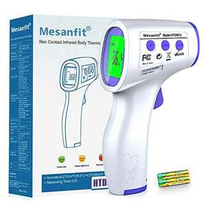 Thermometer for Adults, Digital Non-Contact Forehead Infrared Thermometer with Accurate Instant Reading Fever Alarm and Memory Recall for Baby and Adults
