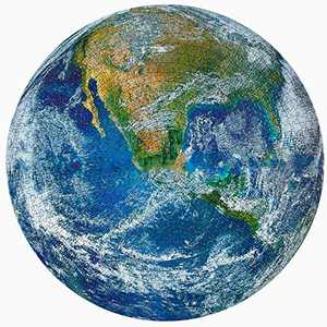 Earth Jigsaw Puzzles 1000 Pieces, Large Round Jigsaw Puzzle Earth Difficult and Challenge, Jigsaw Puzzles Toys Gift for Adults & Kids, Activities to Help Children Think About Parent-Child Interaction.