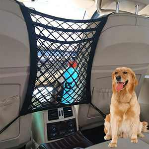 Tonruy Car Dog Barrier,Dog Car Net Barrier,Pet Barrier,Auto Safety Mesh Organizer,Safety Car Divider for Children and Pets,3 Layer