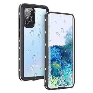 Samsung Galaxy S20 Plus Waterproof Case, Fansteck IP68 Built-in Screen Protector Underwater Case with Fingerprint Film, Full Body Heavy Duty Shockproof High Sensitive Cover for S20+ 6.7 Inch (White)