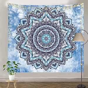 """pinata Mandala Tapestry for Wall Hanging, Hippie Bohemian Dorm Decor, Psychedelic Tapestry for Bedroom, Living Room (59.1"""" X 59.1"""")"""