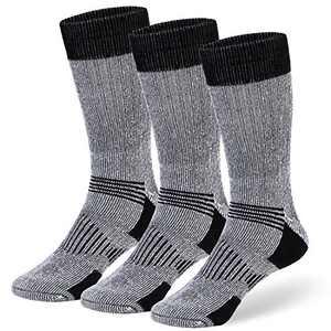 COZIA Wool Socks 80% Merino Men's and Women's Warm Thermal Boot Socks 3 Pairs SM
