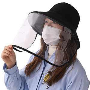 Jeff & Aimy UPF 50 Sun Hats for Women Wide Brim Safari Sunhat Packable with Neck Flap Chin Strap Adjustable (Medium, 00021#Black)