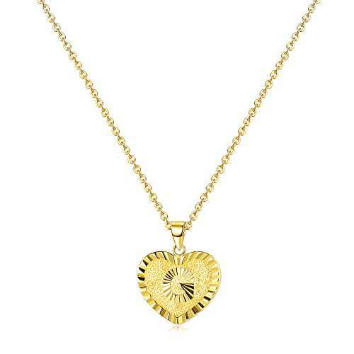 Milacolato Heart Initial Necklace - Sterling Silver Letter Pendant Necklaces 18K Gold Plated Initial Pendant Necklaces for Women