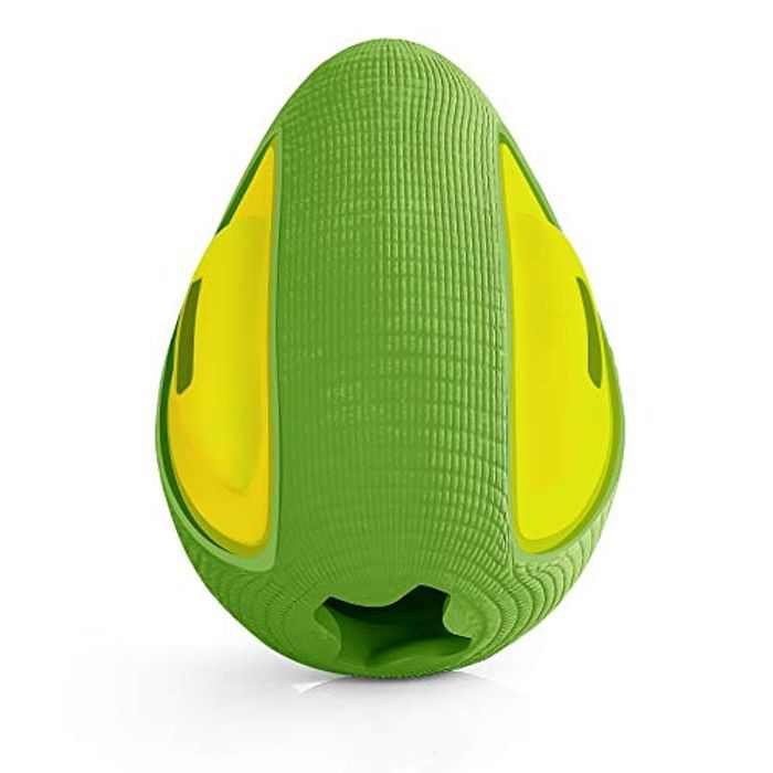 Dog Toys - Lifetime Replacement- Indestructible Interactive Treat Toys For Large Medium Small Dogs - Fun To Chew, Chase And Fetch Green Avocado…