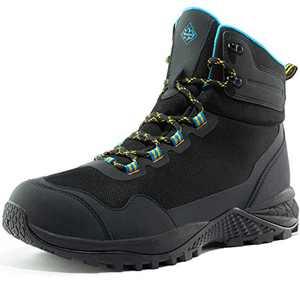 Wantdo Men's Waterproof Hiking Boots Mountaineering Trekking Boots 10 M US Black
