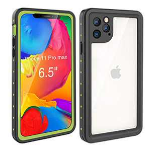 Waterproof Case iPhone 11 Pro Max (6.5 inch), Full Sealed Rugged with Clear Sound Quality Waterproof/Shockproof/Snowproof/Dustproof (Green)