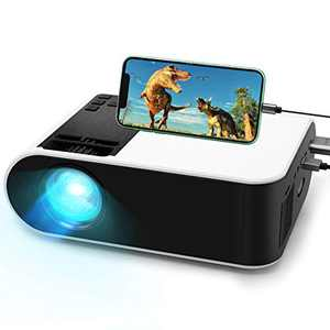 """Mini Projector,WayGoal Movie Projector with 50000 Hours LED Lamp Life and 1080P Supported Projector for Outdoor,150"""" Display for TV Stick,Video Game,Dual Speakers"""