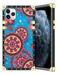 Coolden for iPhone 11 Pro Max Case Slim Protective Stylish Luxury Cover for Women Girls Rugged Corner Soft TPU Shell Cover for iPhone 11 Pro Max 6.5 Inch Mandala Blue