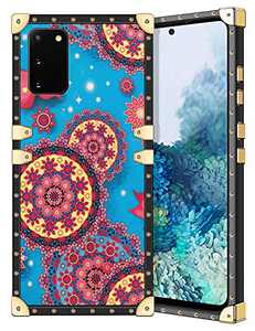 Coolden for Galaxy S20 Case Slim Protective Stylish Luxury Cover for Women Girls Rugged Corner Soft TPU Shell Cover for Samsung Galaxy S20 6.2 inch Mandala Blue