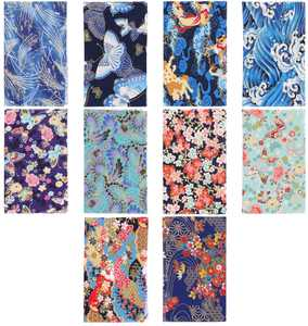 HEALLILY Cotton Craft Fabric Bundle Japanese Style Patchwork Quilting Sewing Patchwork Different Pattern Diy Scrapbooking Artcraft for Handwork 10PCS