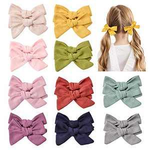 10 Pairs Baby Girls Hair Clips Hair Bows Barrettes Handmade Hair Accessories for Babies Toddler Girls Kids Children