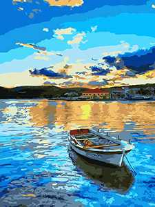 """DIY Oil Painting, 321OU DIY Paint by Numbers, 16x20 Inch Canvas Rolled Creative DIY Oil Painting Gift Canvas Oil Painting Kit for Adults Kids Beginners Home Decoration (16"""" W x 20"""" L)"""
