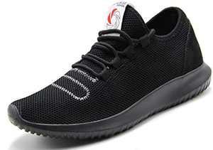 CAMVAVSR Men's Sneakers Fashion Slip on Lightweight Breathable Mesh Soft Sole Walking Running Jogging Shoes for Men Black Size 12