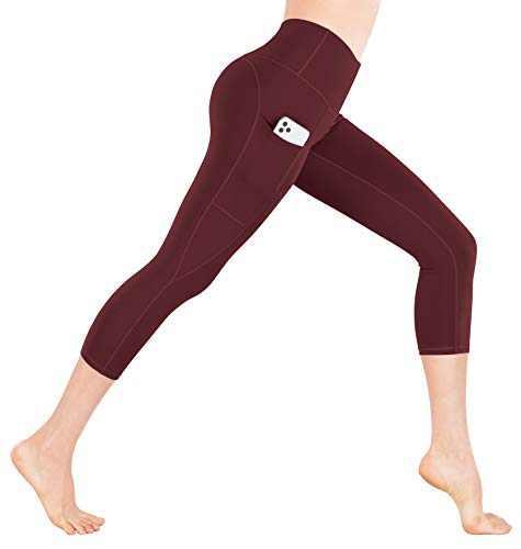 iKeep Yoga Pants with Pockets for Women Tummy Control High Waist Yoga Leggings