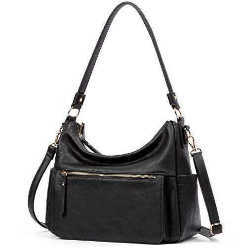 WESTBRONCO Handbags Purses for Women Soft Designer Faux Leather Hobo Purse Bucket Bag