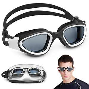 NIAFEYA Swimming Goggles for Adult, Men, Women & Teen - No Leaking Anti Fog UV Protection Adjustable Swim Goggles with Protection Box