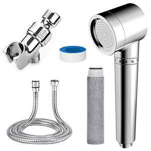 Handheld Showerheads & Handheld Showers with Hose & Replacement ACF Filters,Showerhead Filters Hard Water Softener,High Pressure & Water Saving Filtered Shower Head,Helps Dry Skin & Hair Loss