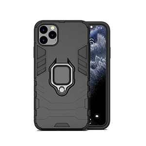 Yoobao iPhone 11 Pro Case Shockproof Armor Case with 360 Degree Rotatable Ring Grip Kickstand Full Protection Iron Man Case for Apple iPhone 11 Pro 5.8 inches -Black