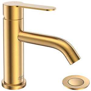 AMAZING FORCE Single Handle Bathroom Faucet Gold Bathroom Sink Faucet Single Hole with Pop Up Drain Assembly Gold Faucet for Bathroom Sink…