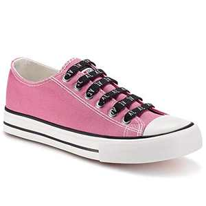 jenn-ardor Womens Sneakers Low Tops Canvas Shoes Casual Lace Up Comfortable Fashion Flats 6.5 Hot Pink