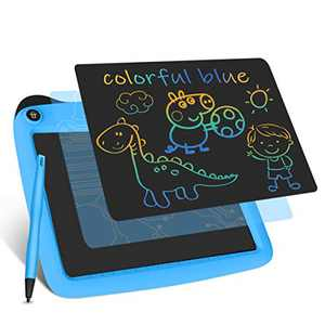 Enotepad LCD Writing Tablets, Colorful Drawing Doodle Board 9 Inch Digital eWriter for Kids Portable Electronic Graphics Blue