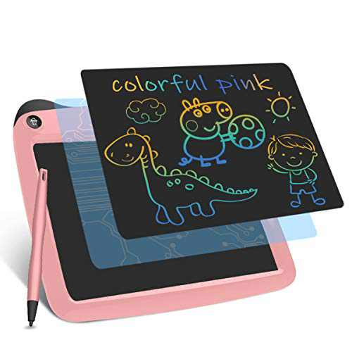 LCD Writing Tablets, Drawing Doodle Board 9 Inch Digital eWriter for Kids Portable Electronic Graphics Pink