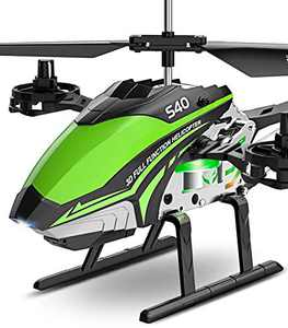 RC Helicopter, SYMA S40 Helicopter with 4 Channel Aircraft, Sturdy Alloy Material, Gyro Stabilizer and High &Low Speed, Multi-Protection Drone for Kids and Beginners to Play Indoor