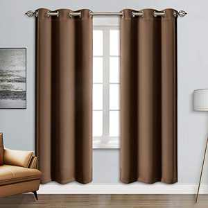 """Blackout Curtain Panels - Grommets Blackout Thermal Insulated Curtains, Draperies for Bedroom、Living Room Windows(Cappuccino, 2 Panels, 42"""" W x 84"""" L)"""