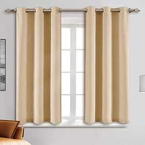 "Blackout Curtain Panels - Grommets Blackout Thermal Insulated Curtains, Draperies for Bedroom、Living Room Windows(Biscotti Beige, 2 Panels, 34"" W x 45"" L)"