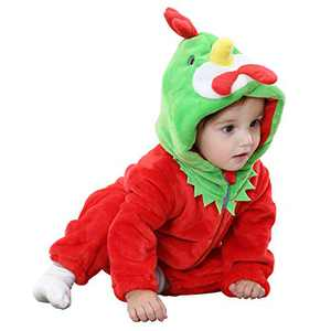 Camlinbo Unisex Baby Dinosaur Costuems Toddler Infant Romper Flannel Dinosaur Outifts Halloween Costumes 3-36 month