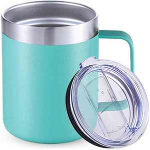 Stainless Steel Insulated Coffee Mug with Handle, Double Wall Vacuum Travel Mug, Tumbler Cup with Sliding Lid 12oz