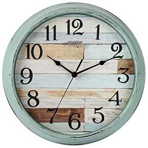 HYLANDA Rustic Wall Clock, Wall Clocks Battery Operated, 12 Inch Country Style Silent Non Ticking Clock, Decorative for Kitchen, Home, Living Room, Farmhouse, Bedrooms