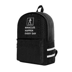 Walk Diary 2020 New School Backpack Hiking Backpack Travel Backpack and Luminous Backpack for Women Men (Black)