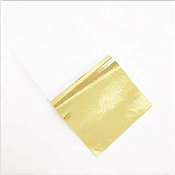 "My Berg Imitation K Gold Leaf 100 Sheets Gilding Foil 3.15"" by 3.35"" Gold Foil Paper for Paintings Arts Crafts Nail Handcrafts Frames Furniture"
