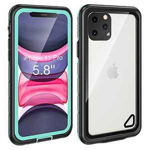Fansteck iPhone 11 Pro Waterproof Case (5.8 inch), IP68 Underwater Full Body Protective Waterproof/Shockproof/Dirtproof/Snowproof, with Built-in Screen Protector for iPhone 11 Pro (Aqua Blue)