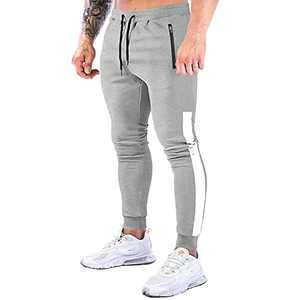 NAVEKULL Men's Jogger Pants Slim Fit Workout Runing Tapered Sweatpants Casual Athletic Joggers for Gym Training Jogging Light Grey