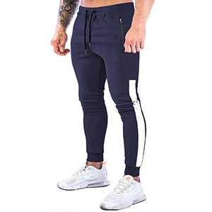 NAVEKULL Men's Jogger Pants Slim Fit Workout Runing Tapered Sweatpants Casual Athletic Joggers for Gym Training Jogging Navy Blue