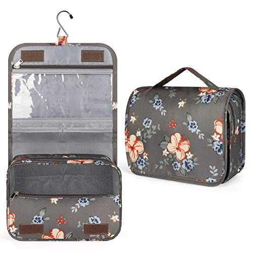 Toiletry Bag, Travel Toiletries Bags, Women Travel Makeup Organizer with Large Capacity, Waterproof Shower bag with Haning Hook, Multifunction Travel Bag for Toiletries, Perfect for Girls Family Trip