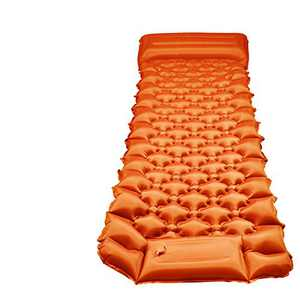 Eposy Camping Sleeping Pad Ultralight Inflatable Sleeping Pads with Air Pillow and Built in Pump for Backpacking, Traveling, Hiking(Orange)