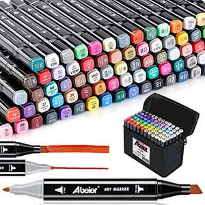 81 Colors, Alcohol Art Markers, Advanced Dual Tip, Plus 1 Blender Marker with Thick Packing, Permanent Sketch Markers for Kids, Adults Coloring and Artist Illustration