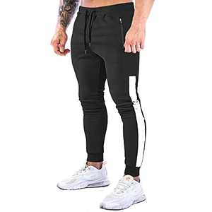 NAVEKULL Men's Jogger Pants Slim Fit Workout Runing Tapered Sweatpants Casual Athletic Joggers for Gym Training Jogging Black