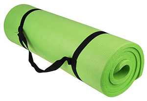 Tahoe Trails Non Slip Thick Yoga Mat 1/2 Inch Thick with Carrying Strap   Yoga Set Perfect For Pilates, Core Workout, and Yoga Routines   Green 1 Pack