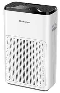 Air Purifier for Home, Elechomes KJ200-A3B True HEPA H13 Air Filter for Bedroom, Playroom, Office Up to 323ft², Ultra Quiet Air Cleaner with Sleep Mode, Captures 99.97% Pet Dander, Smoke, Pollen