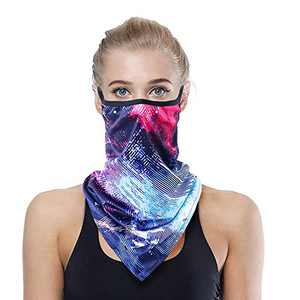SG SUGU Face Mask Reusable Washable Cloth Bandanas Women Men Neck Gaiter Cover Ear Loops ES01-23