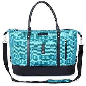 56L Travel Tote Duffle Bag with Shoe Bag Weekender Overnight Bag Oversized for Men Women – Luggage, Gym, Hiking and Storage Shoulder Bag