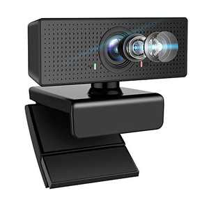 Webcam with Microphone, Airacker HD 1080p Webcam with Microphone for Desktop,Streaming Webcam for Computer Monitor USB Webcam with 110° Wide View Angle,PC Camera Webcam for Video Calling and Recording