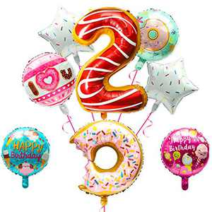 """BeYumi Donut 2nd Birthday Party Balloons 