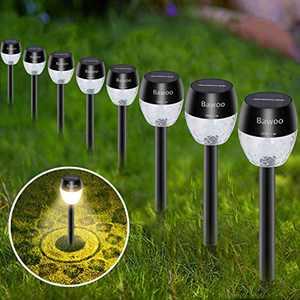 Solar Outdoor Lights Pathway, Solar Garden Light, Waterproof Sun Powered Landscape Lighting Kit for Yard, Lawn, Patio 8 Pack