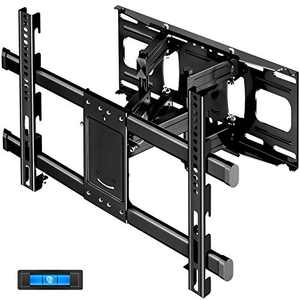 "TV Wall Mount with Height Setting JUSTSTONE TV Mount for Most 37-86 Inch Flat Curved TVs TV Bracket Dual Articulating Arms Swivels Tilts Rotation Holds up to 121lbs, Max VESA 600X400mm and 16"" Studs"
